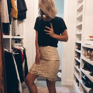 Vintage Lace Pencil Skirt